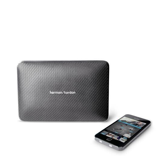 Esquire 2 - Grey - Premium portable Bluetooth speaker with quad microphone conferencing system - Detailshot 5