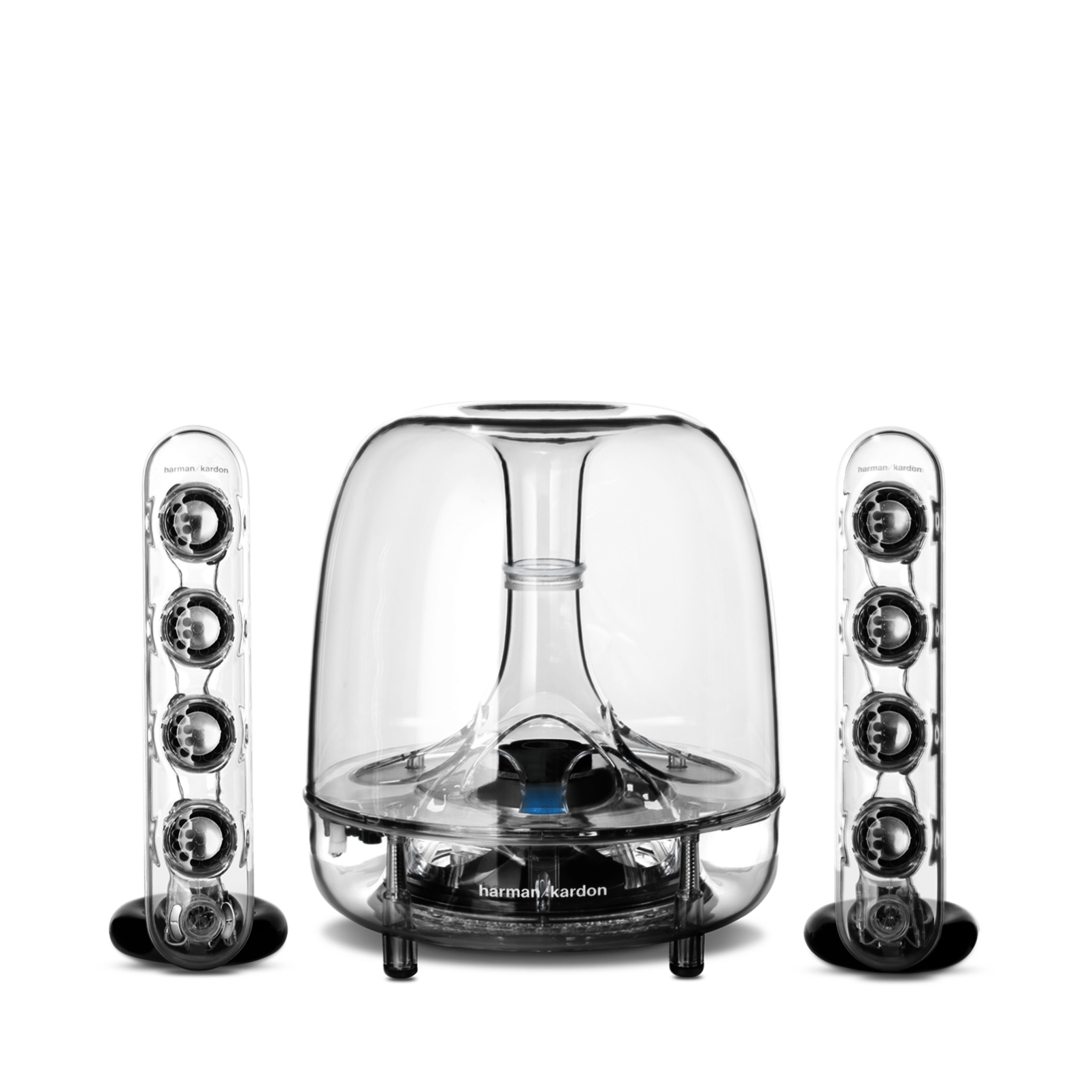 SoundSticks Wireless - Clear - Three-piece wireless speaker system with Bluetooth - Hero