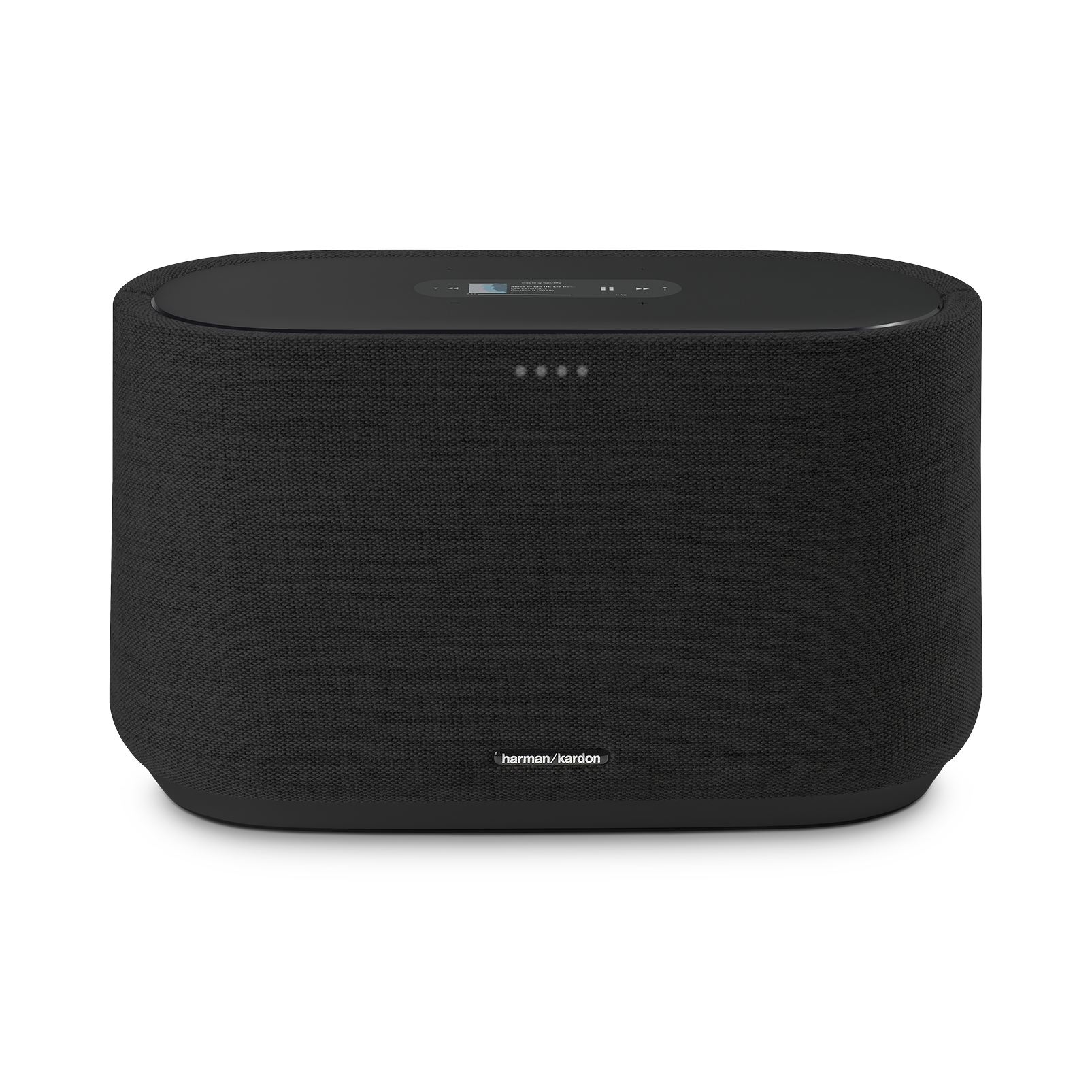 Harman Kardon Citation 300 - Black - The medium-size smart home speaker with award winning design - Front